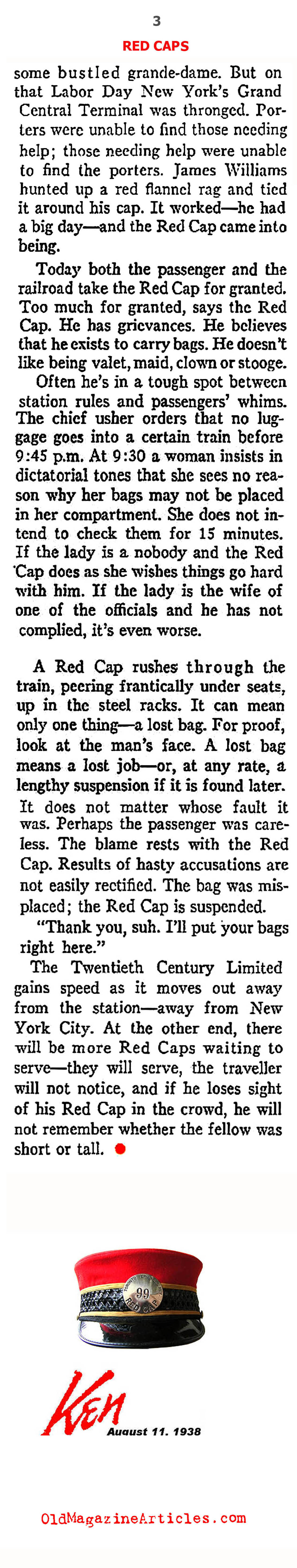 The Red Caps (Ken Magazine, 1938)