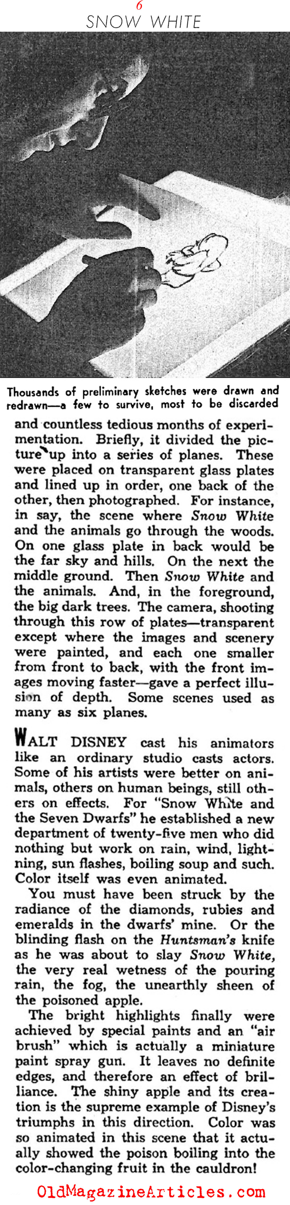 The Making of SNOW WHITE and the SEVEN DWARFS (Photoplay Magazine, 1938)
