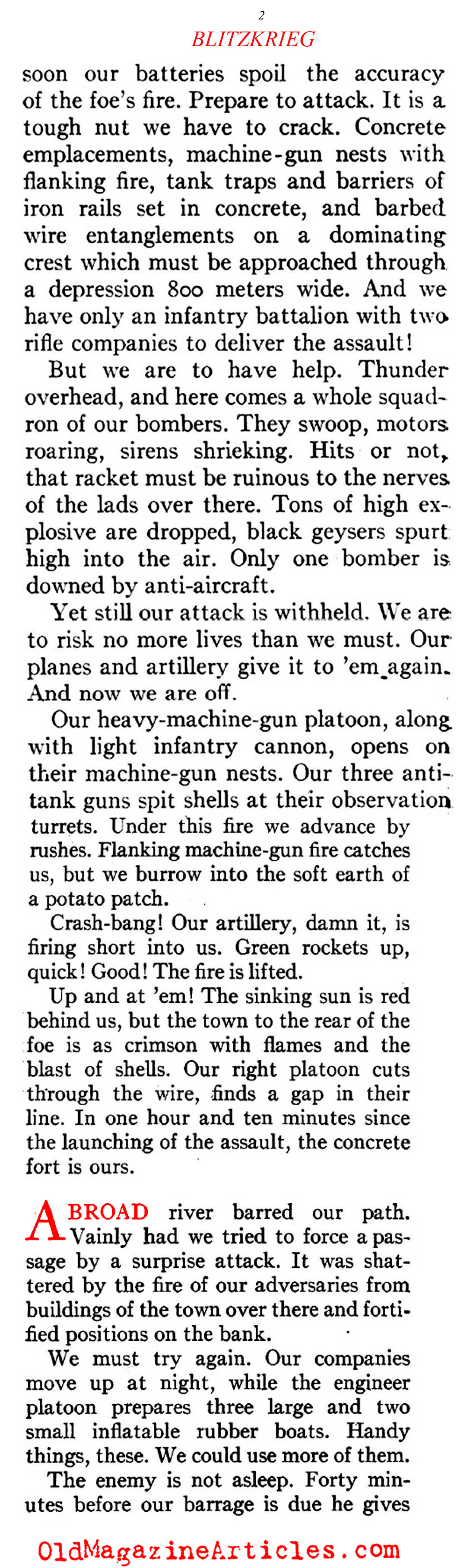 Blitzkrieg: In the Words of Nazi Officers   (American Legion Weekly, 1940)