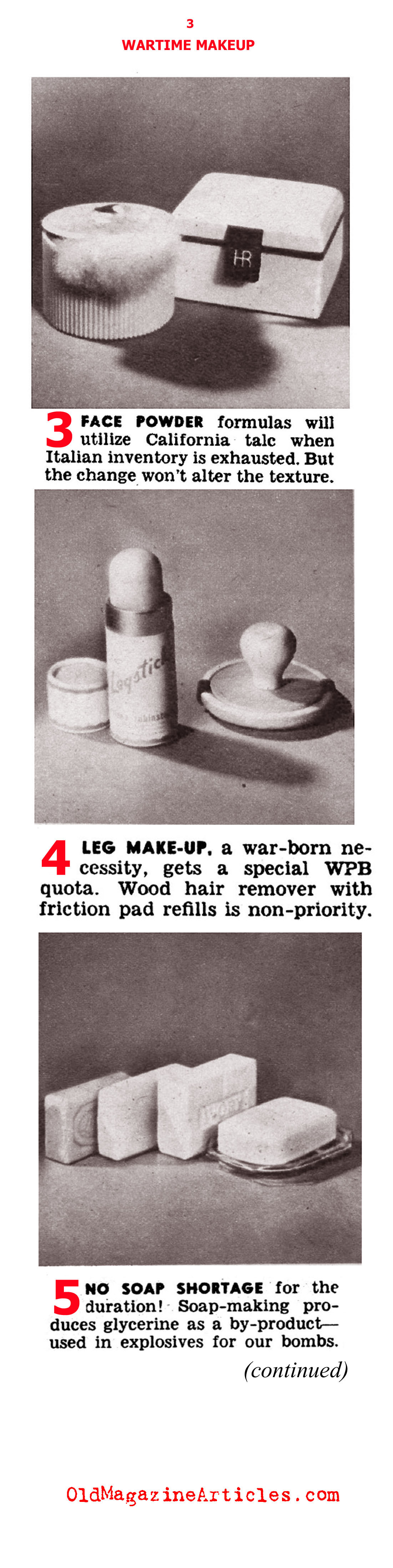 1940s Makeup and W.W. II (Click Magazine, 1942)