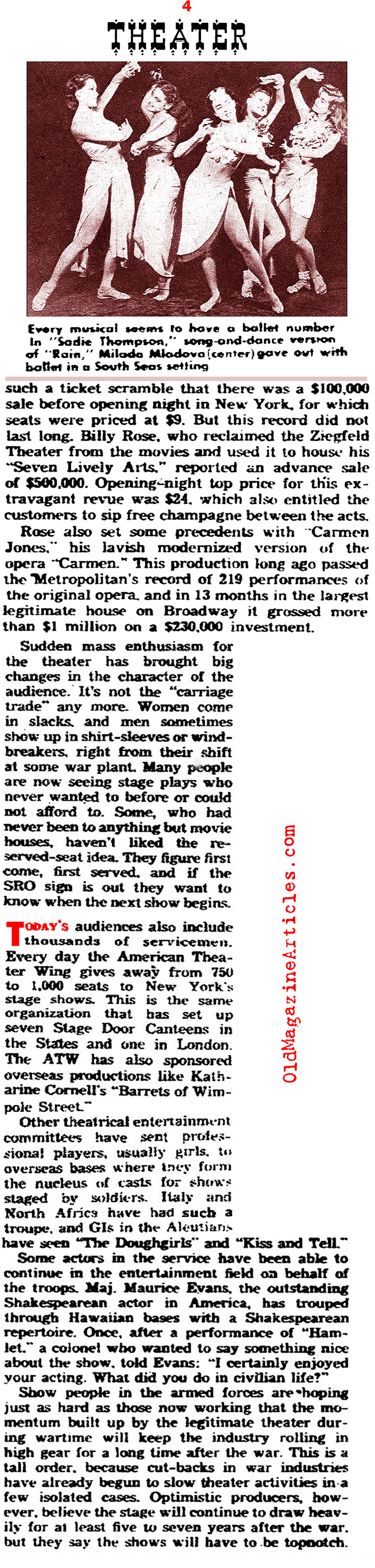 Broadway Theatre in the Forties (Yank Magazine, 1945)