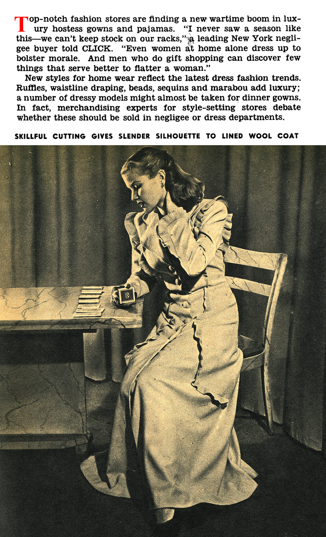 The Hostess Gown Made a Splash on the Home Front (Click Magazine, 1944)