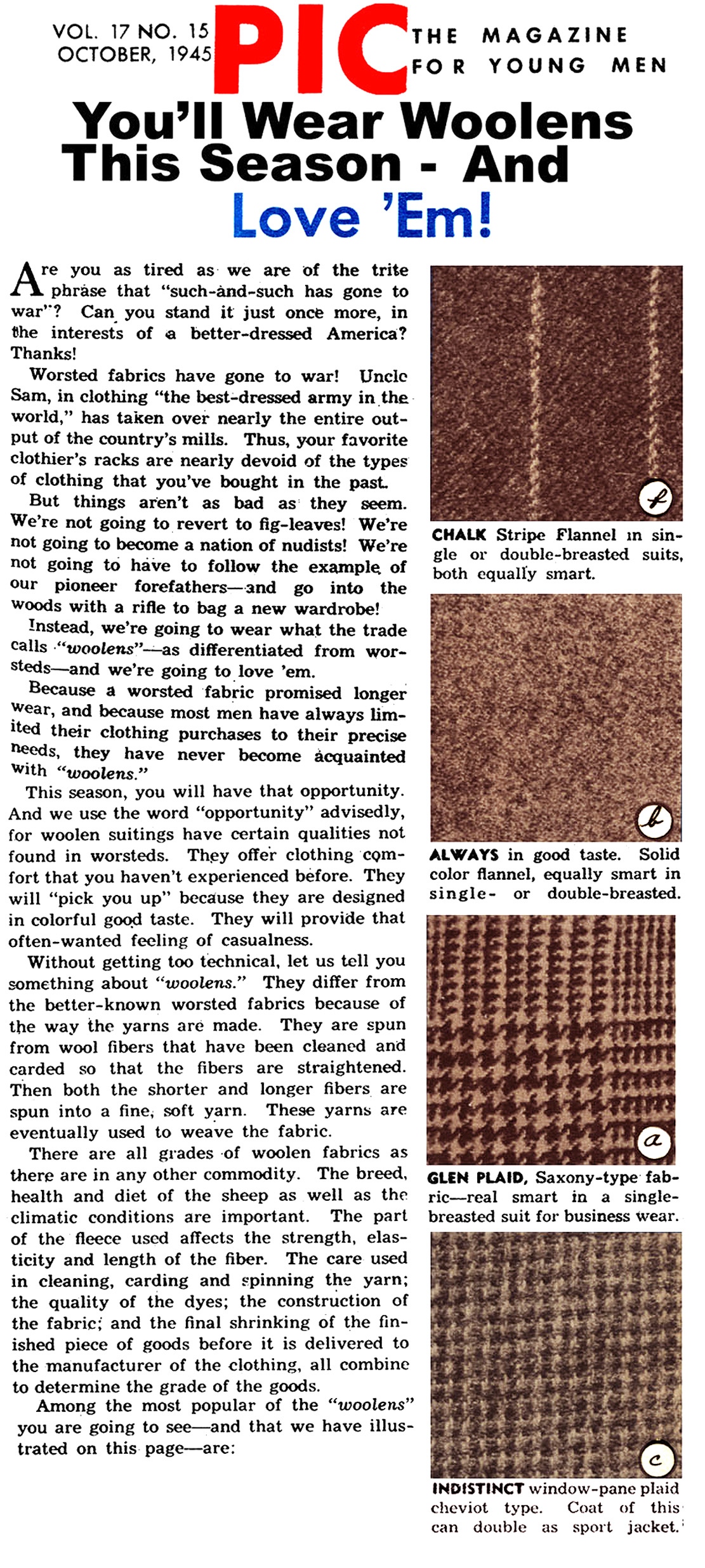 Wool of the 1940s  (Click Magazine, 1945)