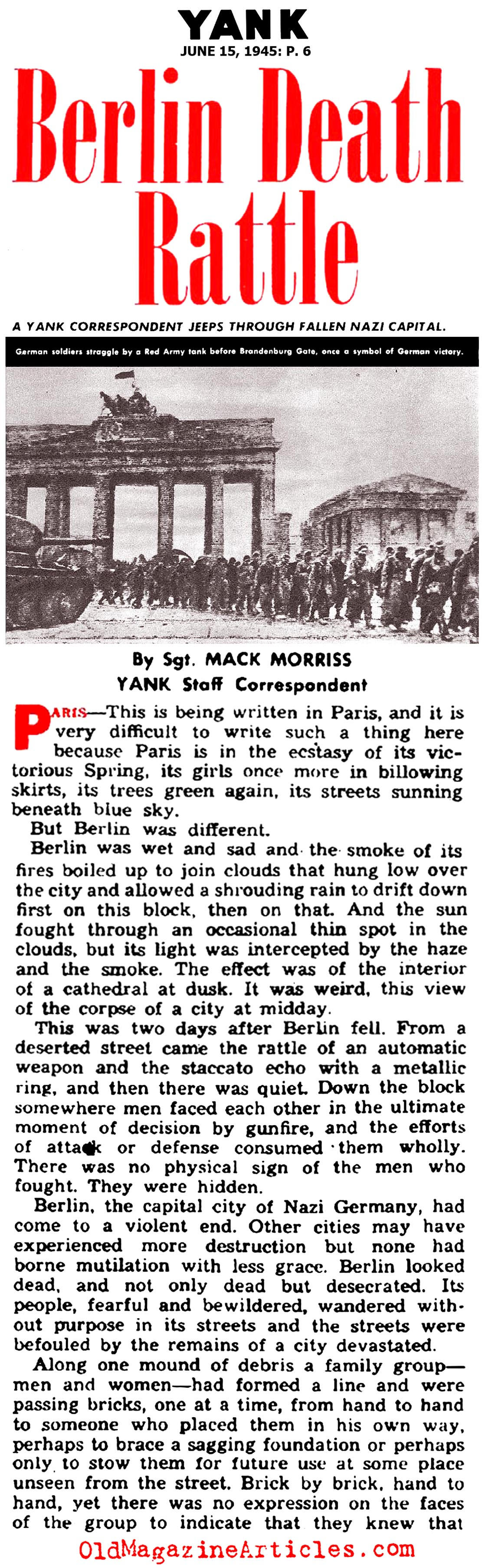 The End of the War in Berlin (Yank Magazine, 1945)