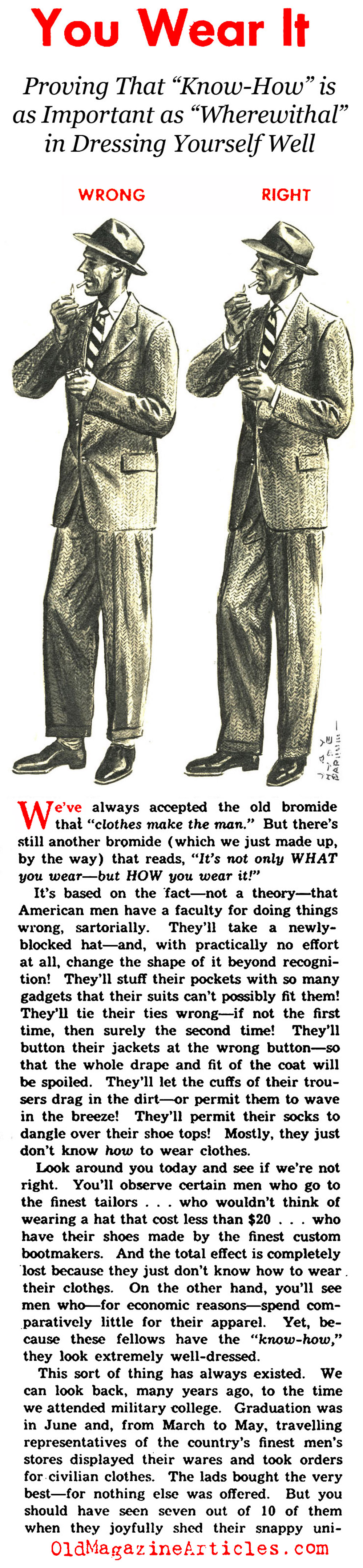 The Dos and Don't in Men's Suiting of the Forties (Pic Magazine, 1945)