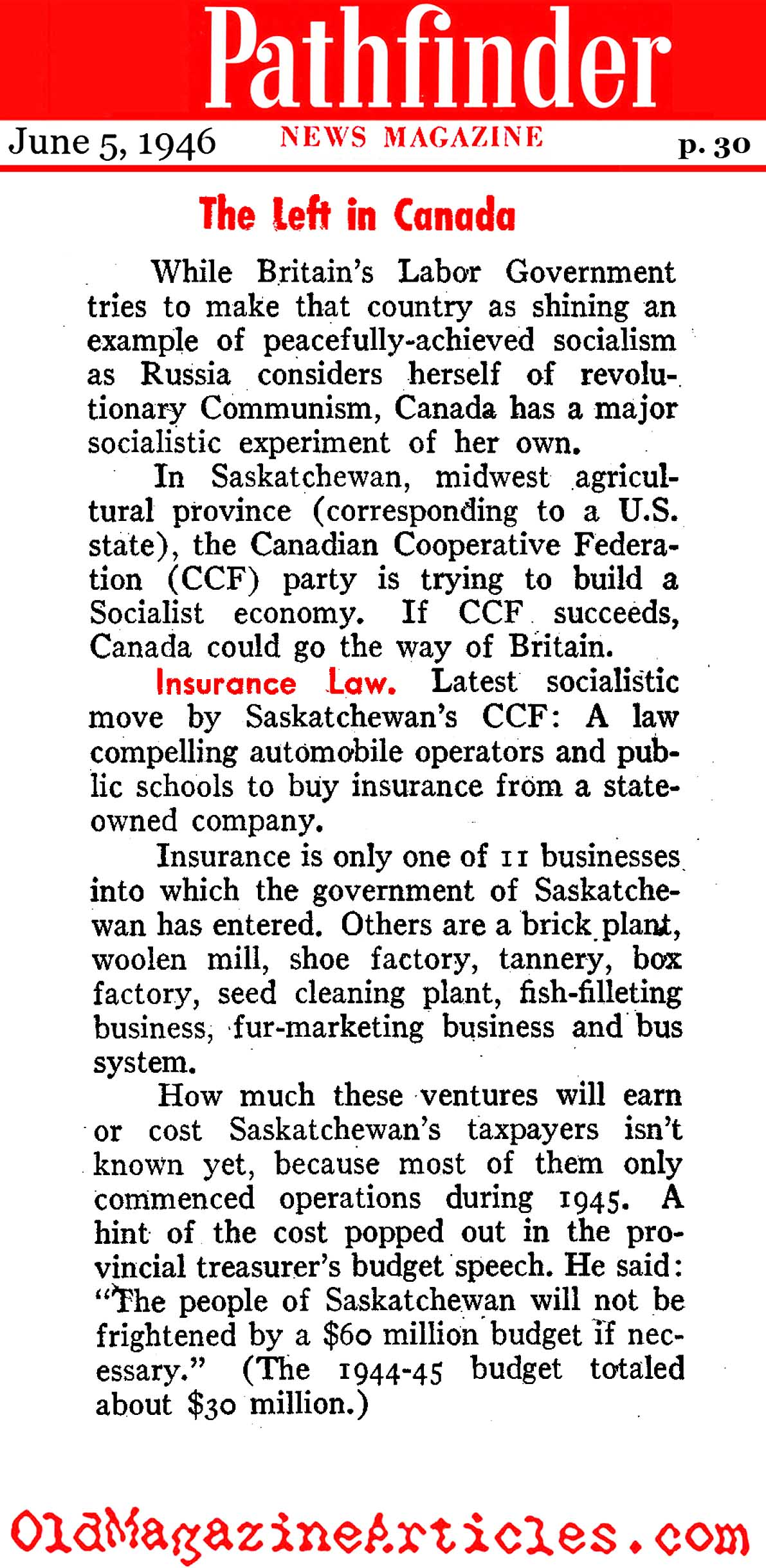 Red Saskatchewan (Pathfinder Magazine, 1946)
