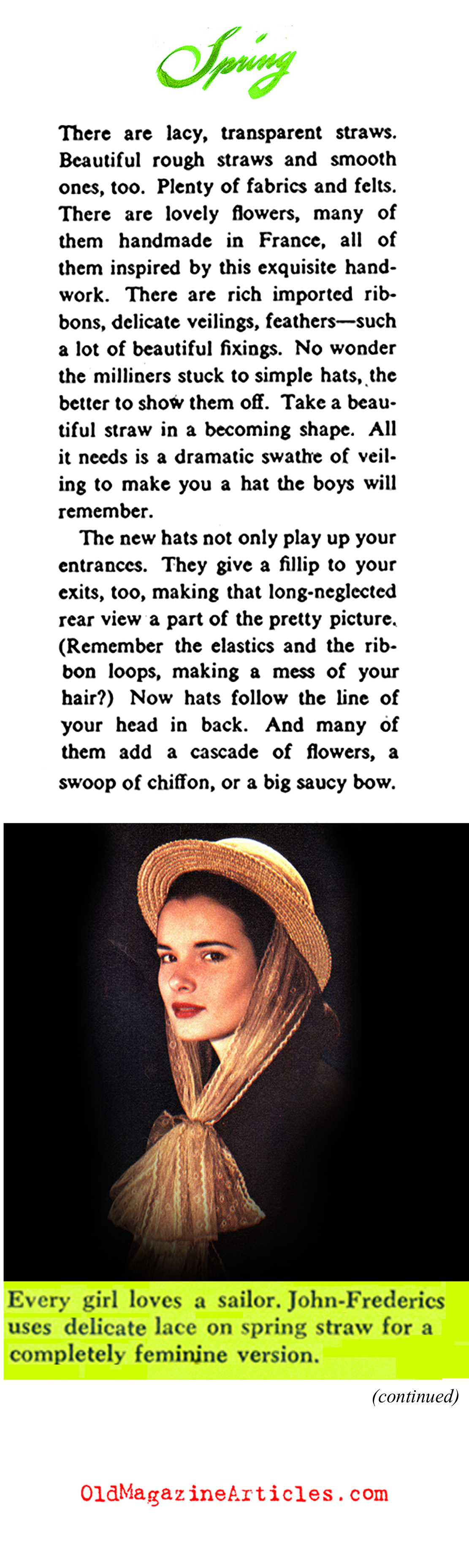 The Hats of 1947 (Collier's Magazine, 1947)