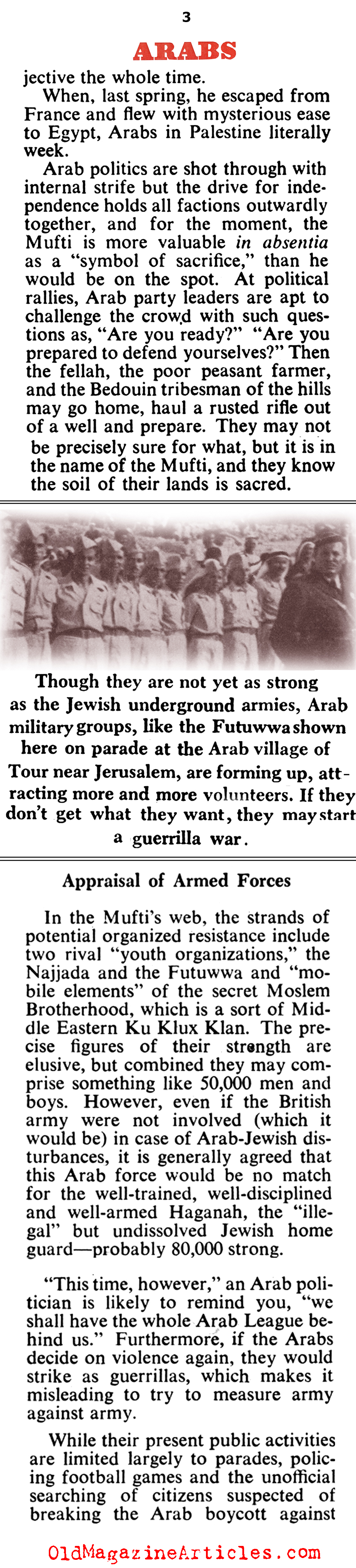 The Arabs Mobilize (Collier's Magazine, 1947)