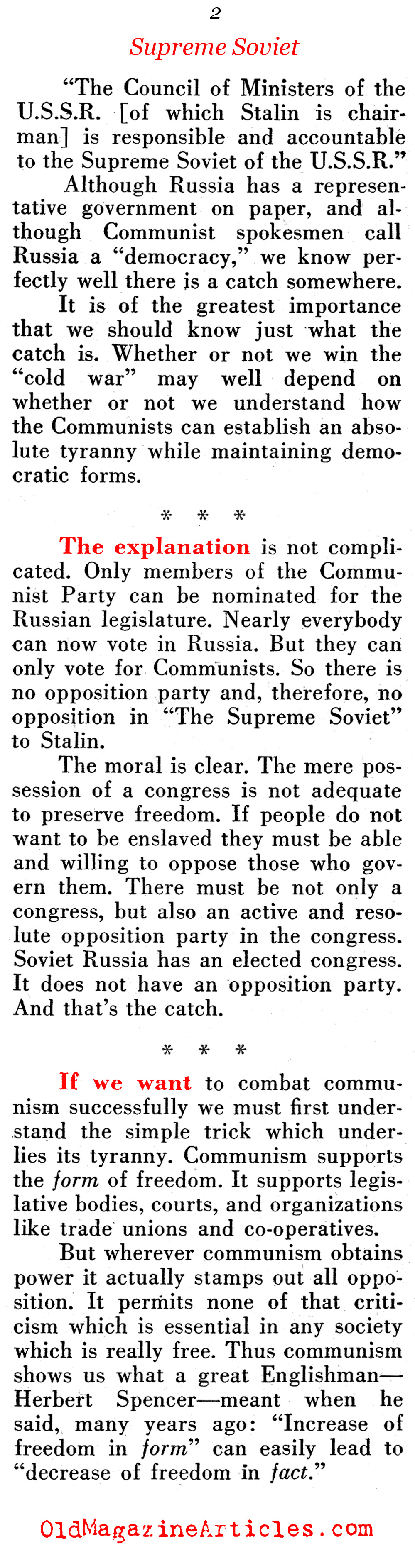 ''Russia Has a Congress'' (Pathfinder Magazine, 1949)