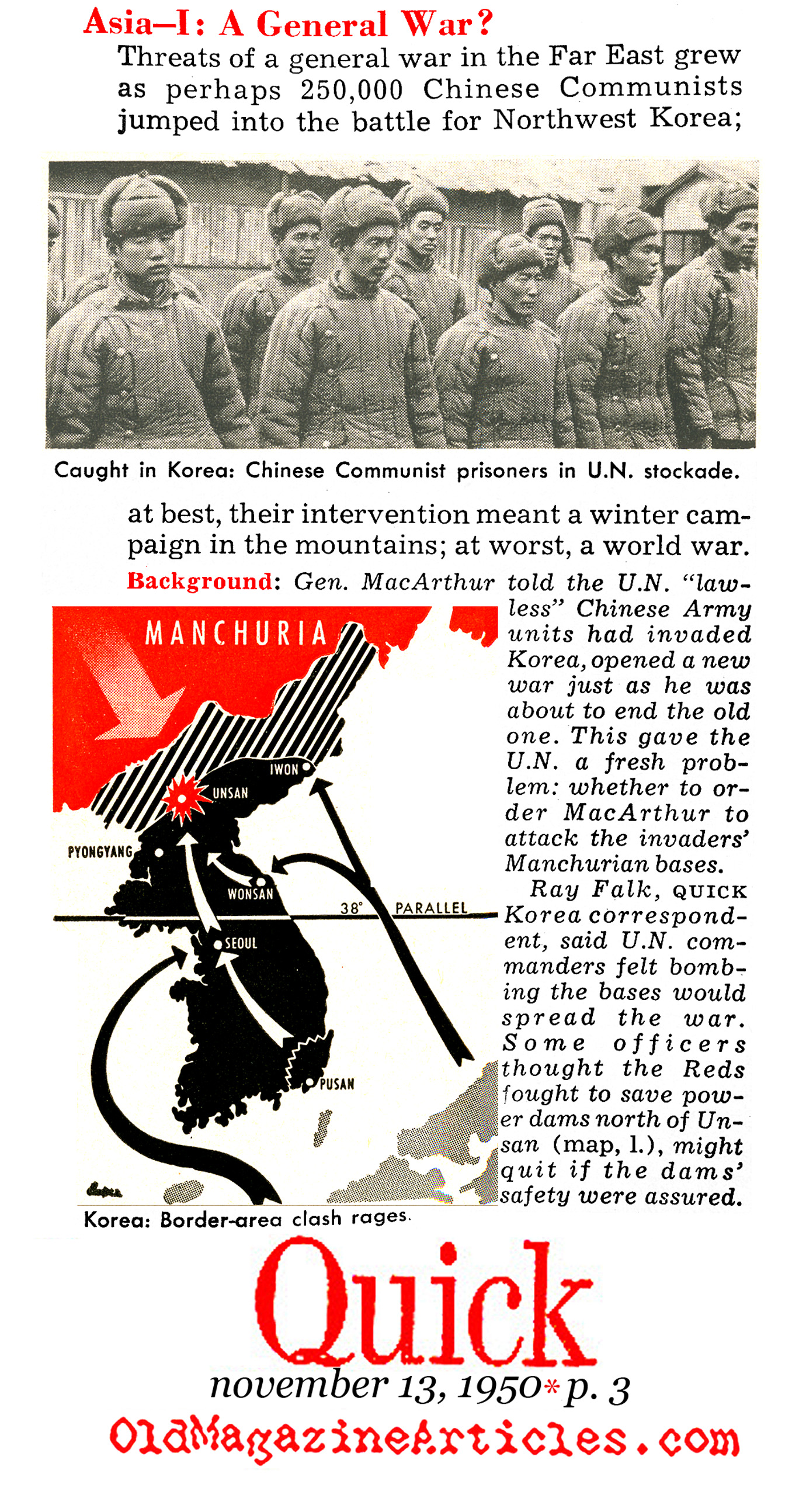 Enter China (Quick Magazine, 1950)