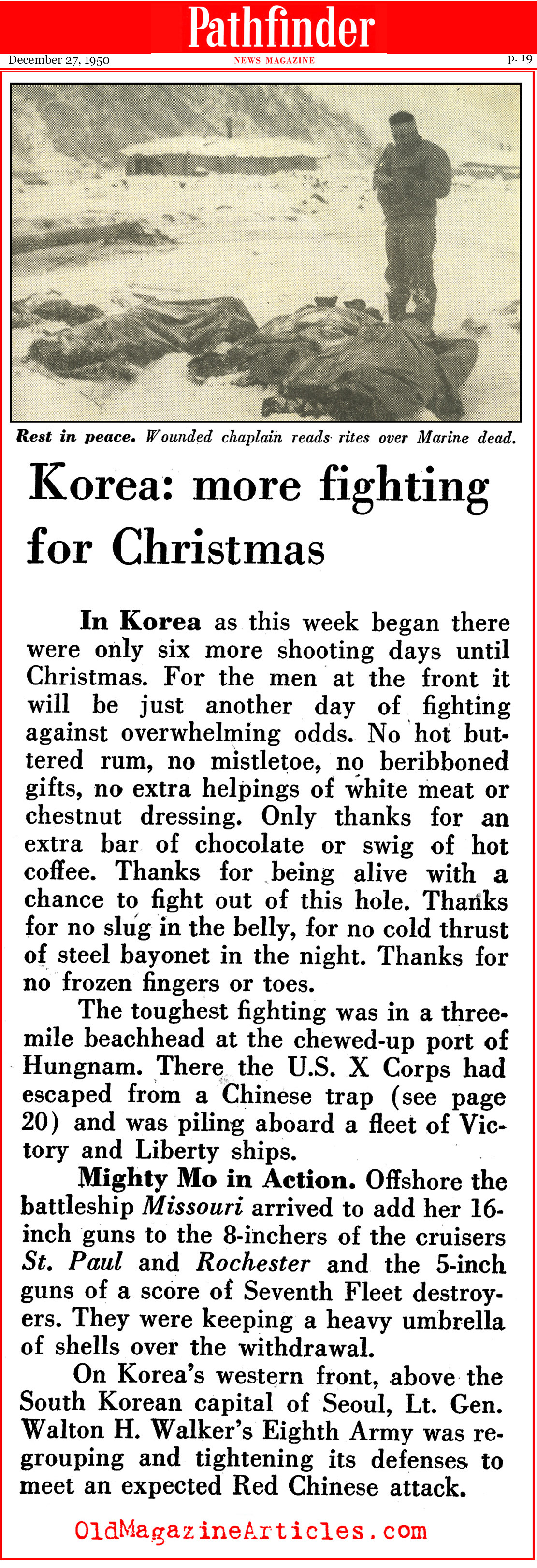 More Fighting for Christmas (Pathfinder Magazine, 1950)