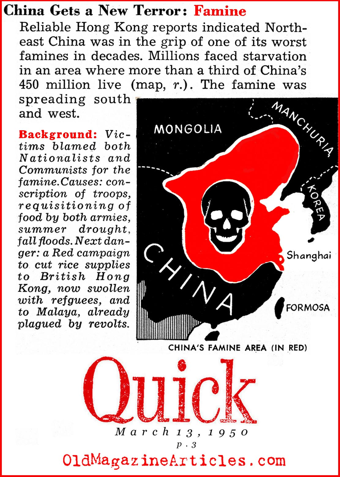 Famine in the North-East (Quick Magazine, 1950)