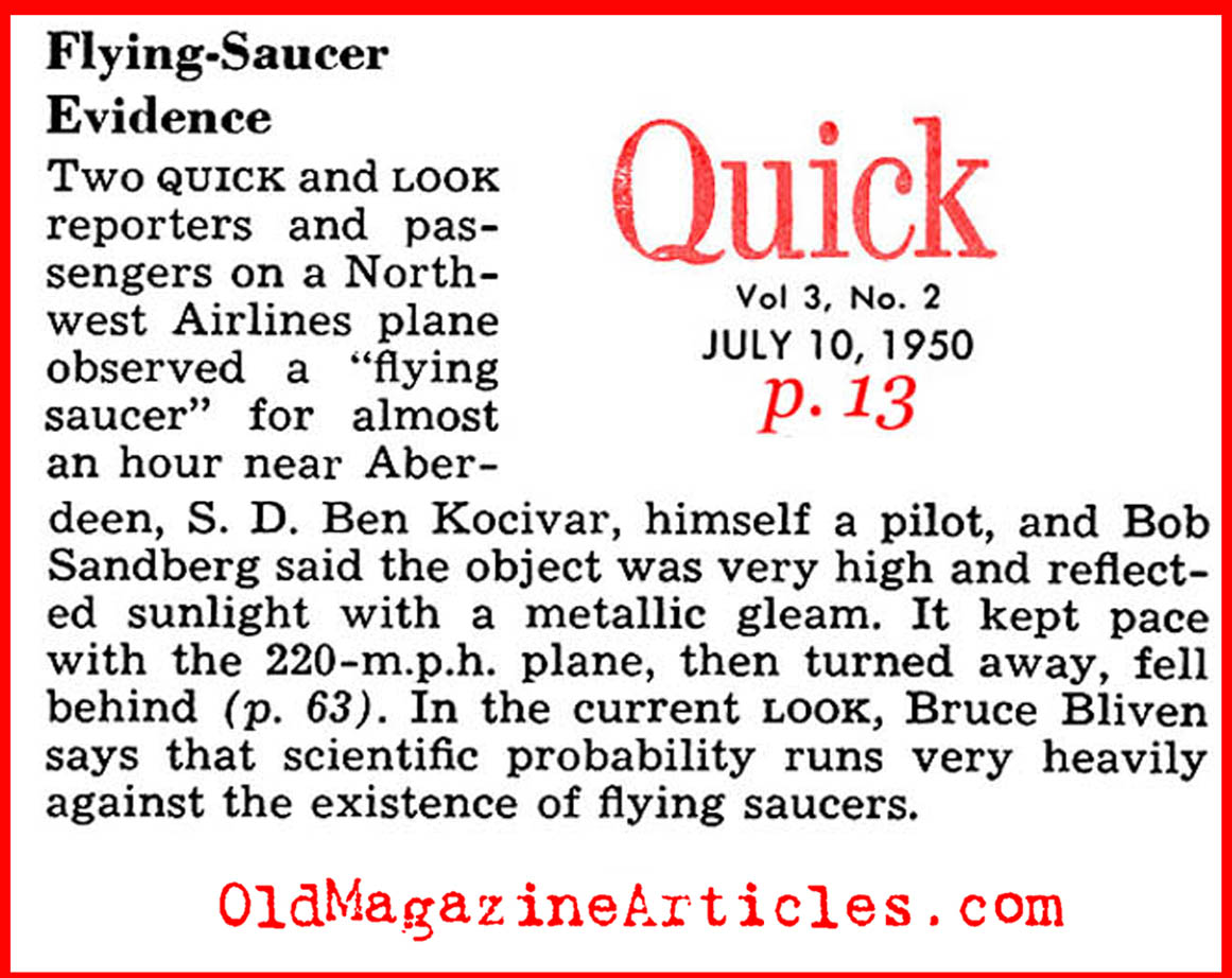 Sighting Over South Dakota (Quick Magazine, 1950)