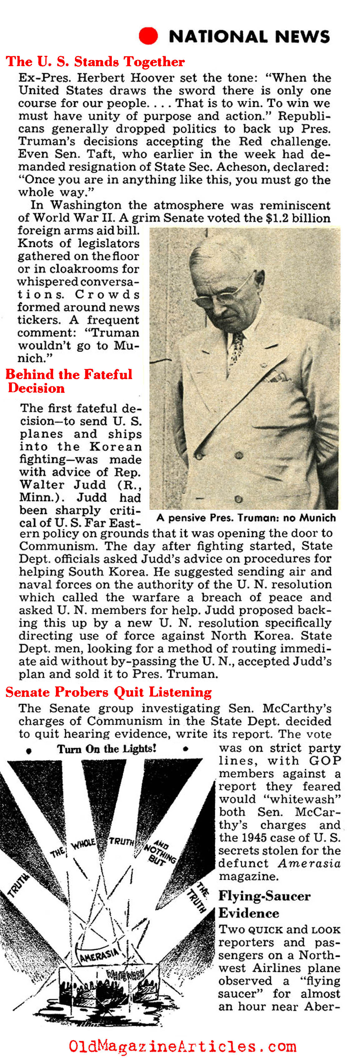 Tensions Build in Washington (Quick Magazine, 1950)