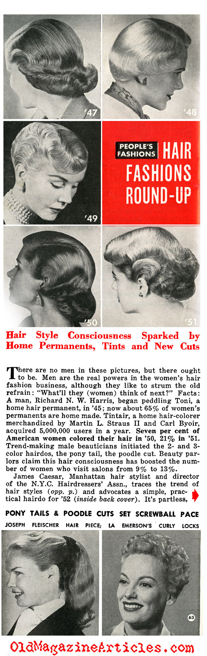 Hair Fashions of the Early 1950s (People Today, 1952)