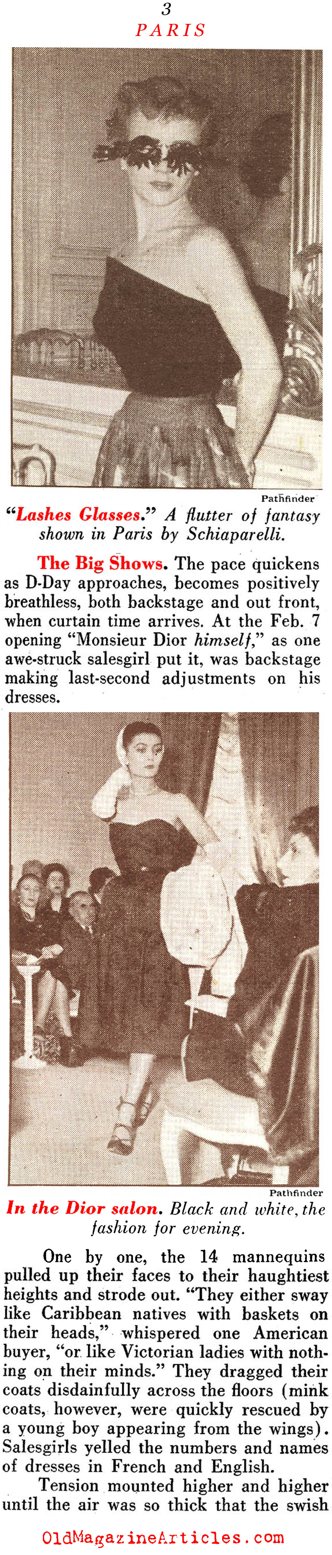 Setting the Trends from Paris (Pathfinder Magazine, 1951)