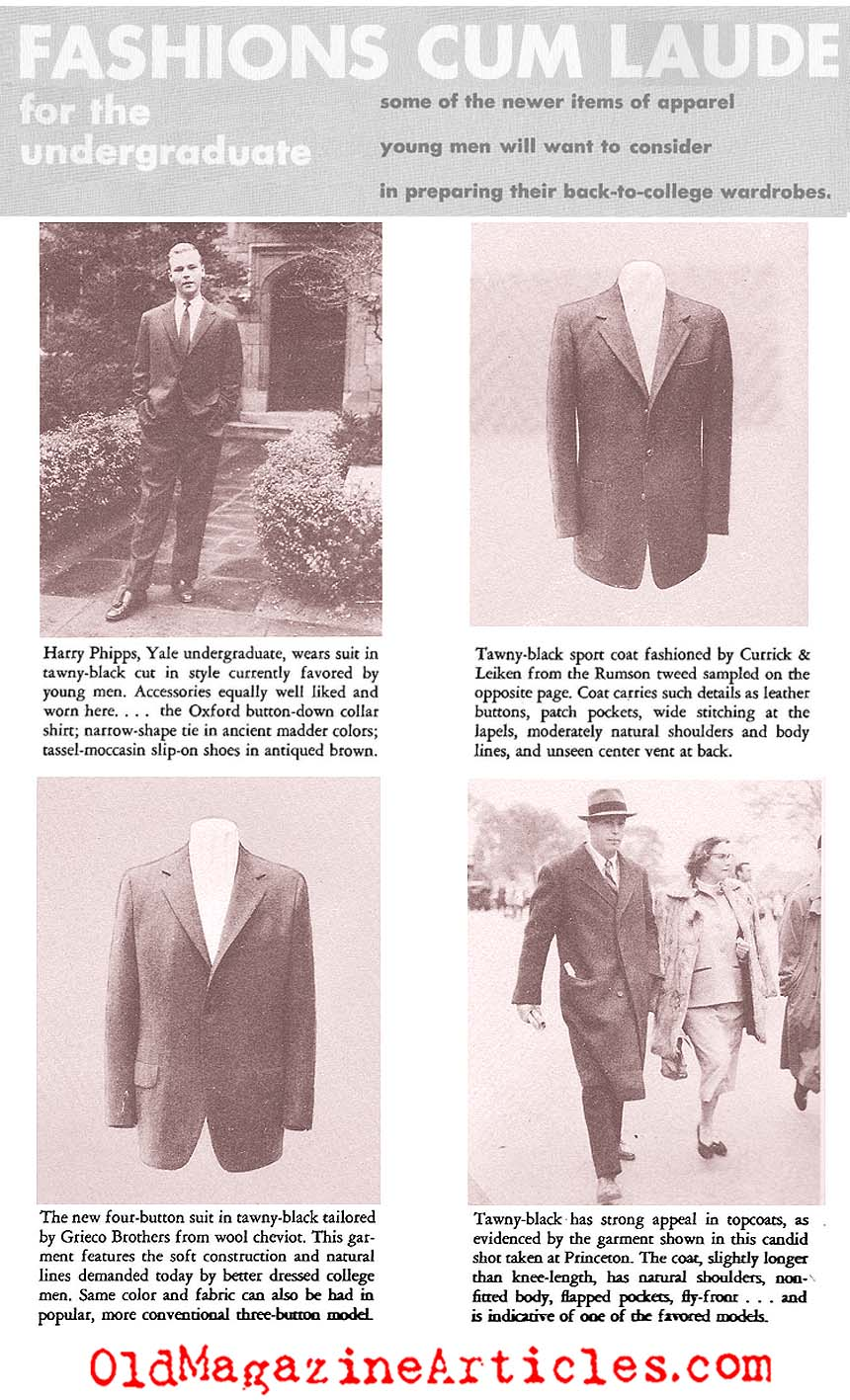 Ivy League College Fashions (Gentry Magazine, 1953) • Gentry Magazine, 1953 •