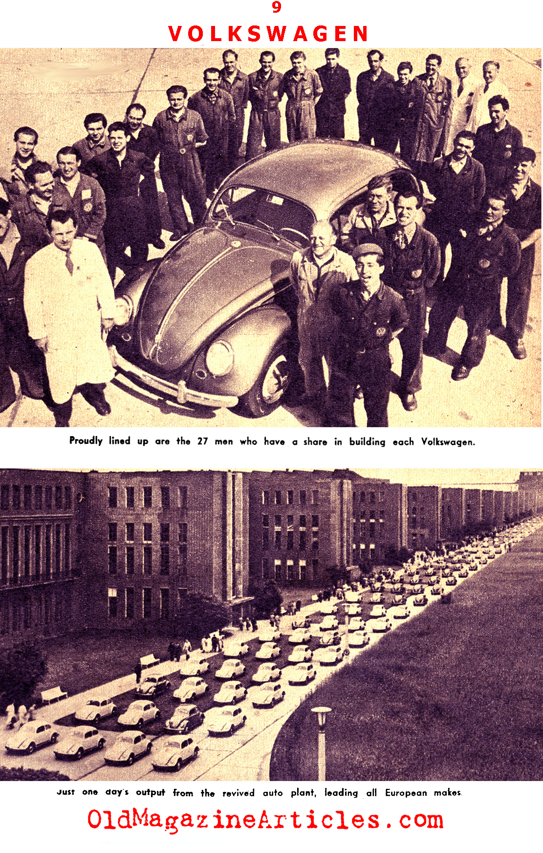 The Post-War Miracle that was Volkswagen  (Pic Magazine, 1955)