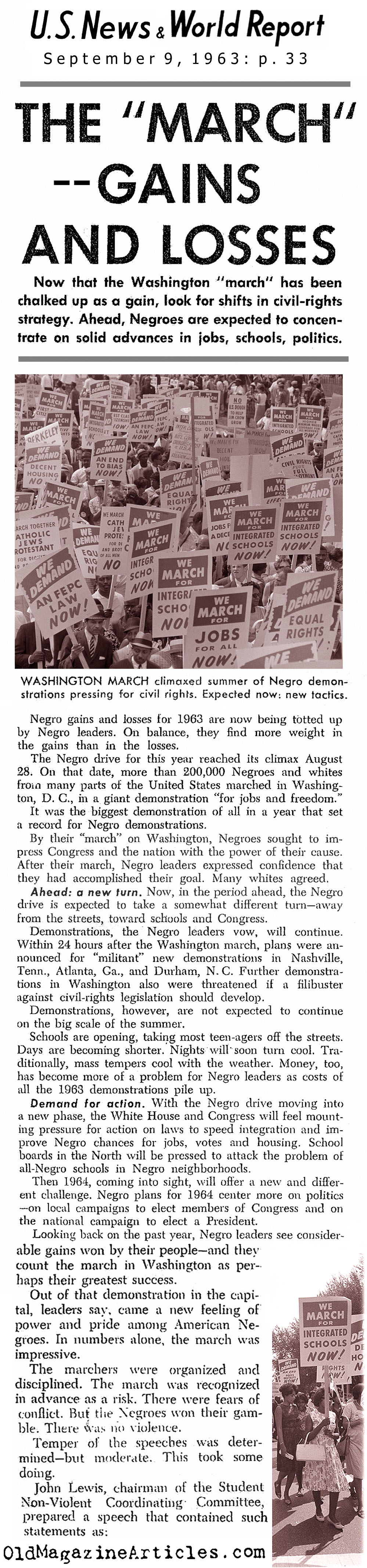 King's March in Washington (United States News, 1963)