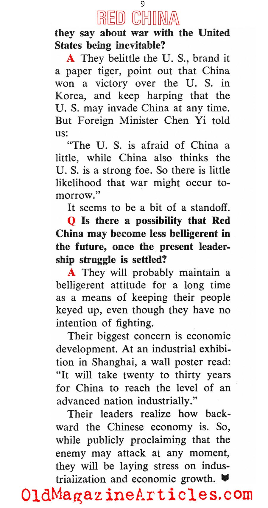 How Dangerous is Red China (Coronet Magazine, 1967)