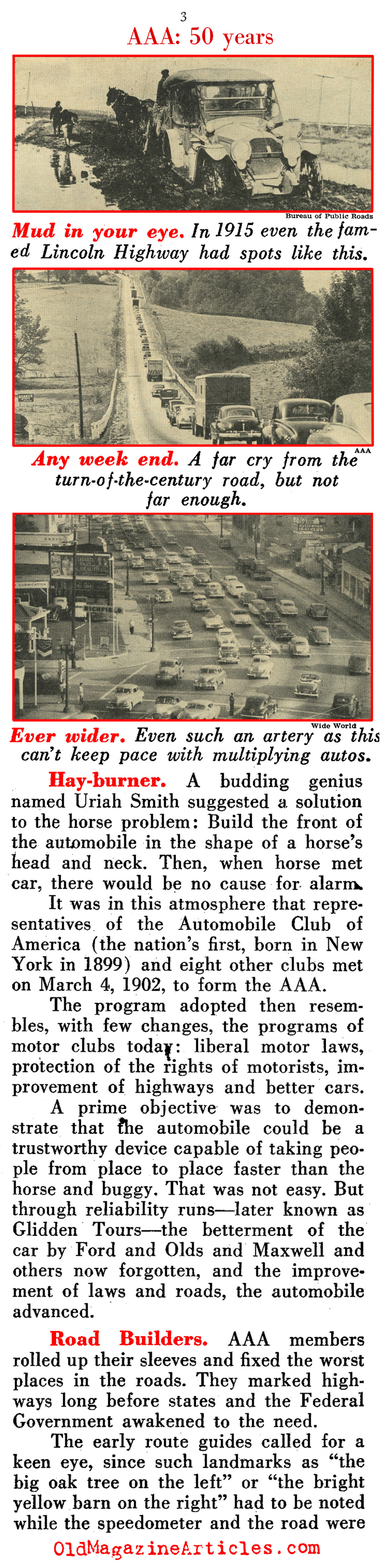 The First Fifty-Years Behind the Wheel (Pathfinder Magazine, 1952)