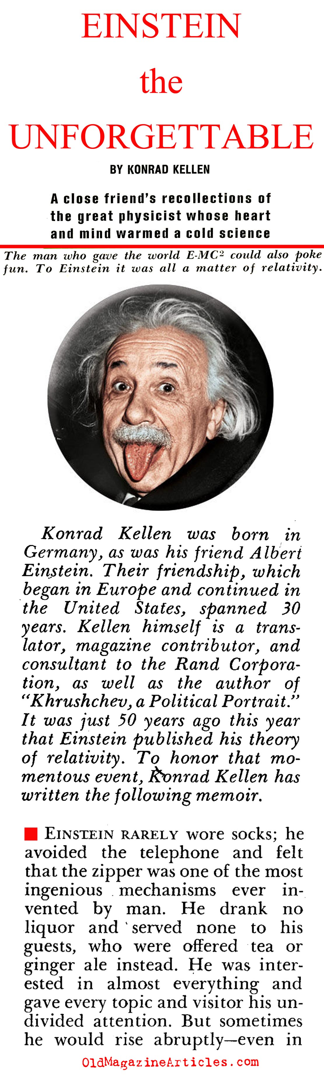 albert einstein printable articles