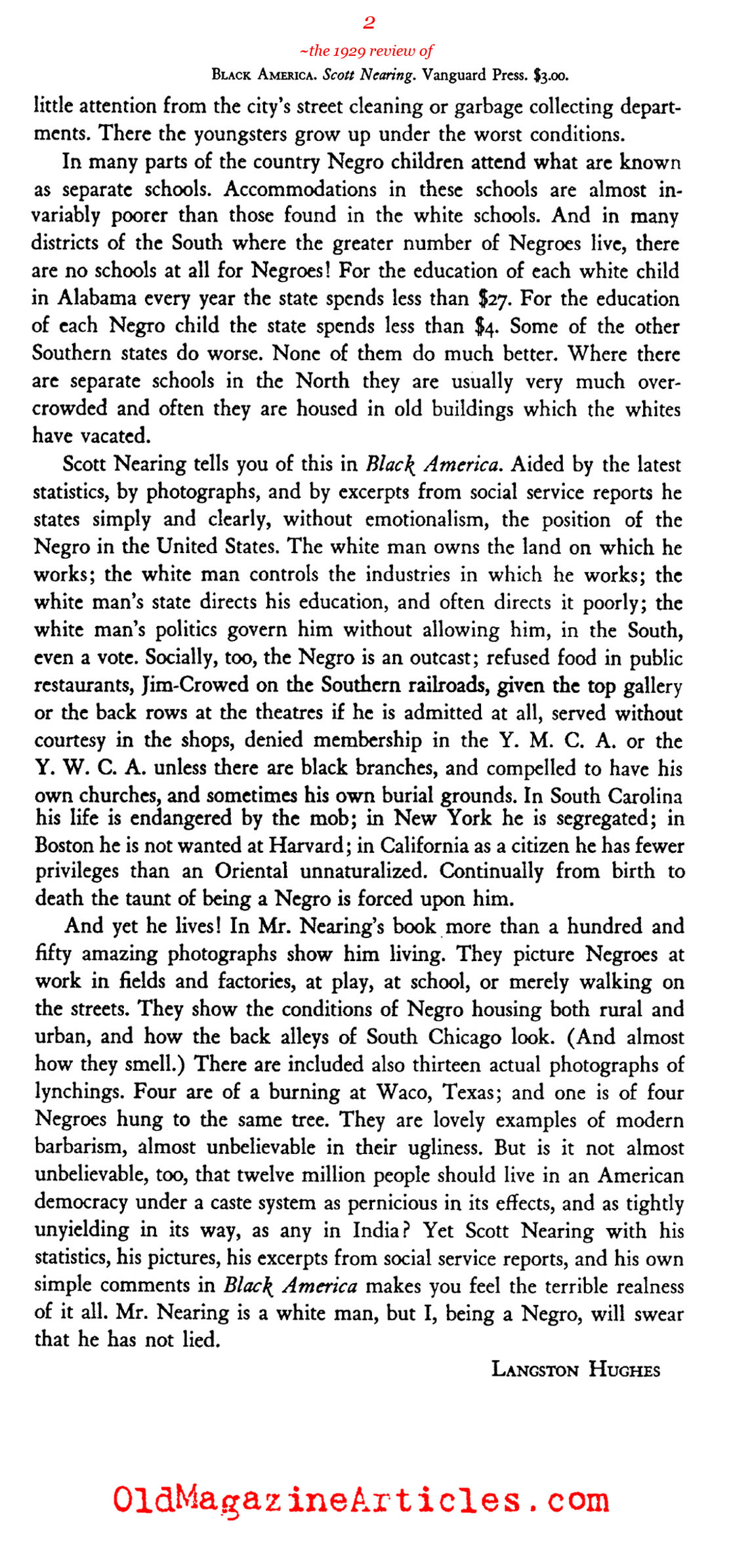 The State of African-Americans in 1929 (The Book League, 1929)