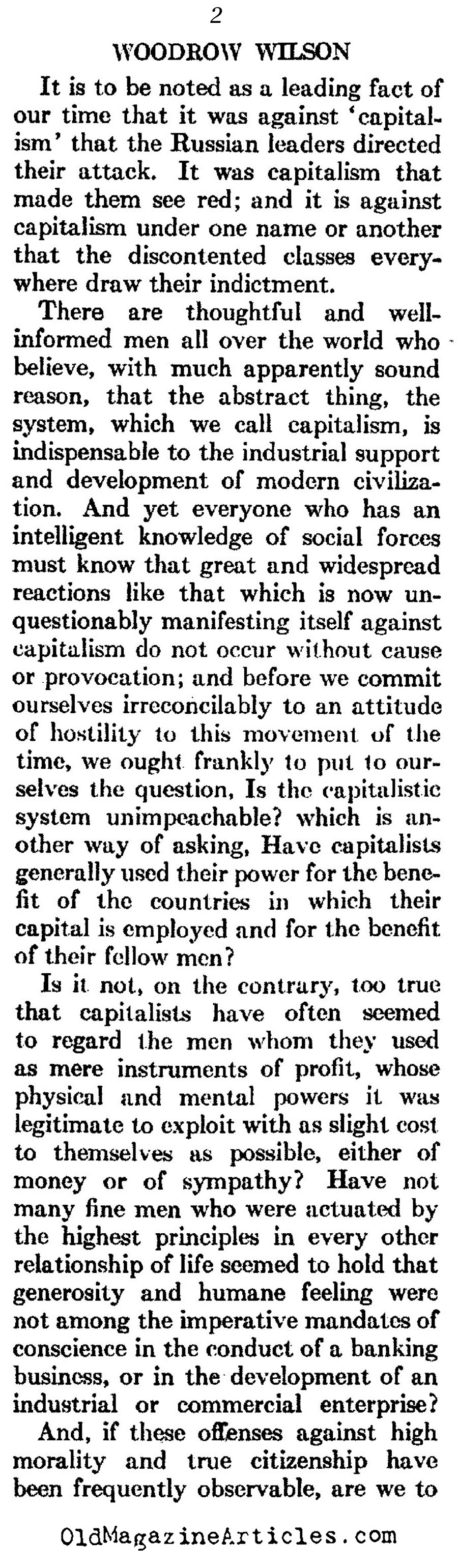 woodrow wilson response to the 1917 russian revolution woodrow woodrow wilson on the russian revolution and the red scare atlantic monthly 1923