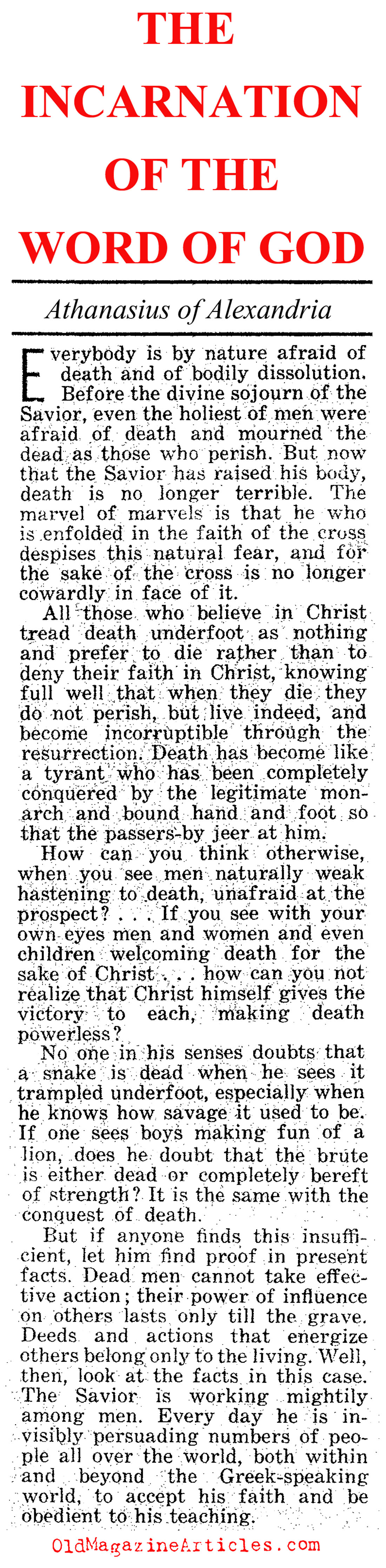 When the Word Became Flesh (Jesus People Magazine, 1973)
