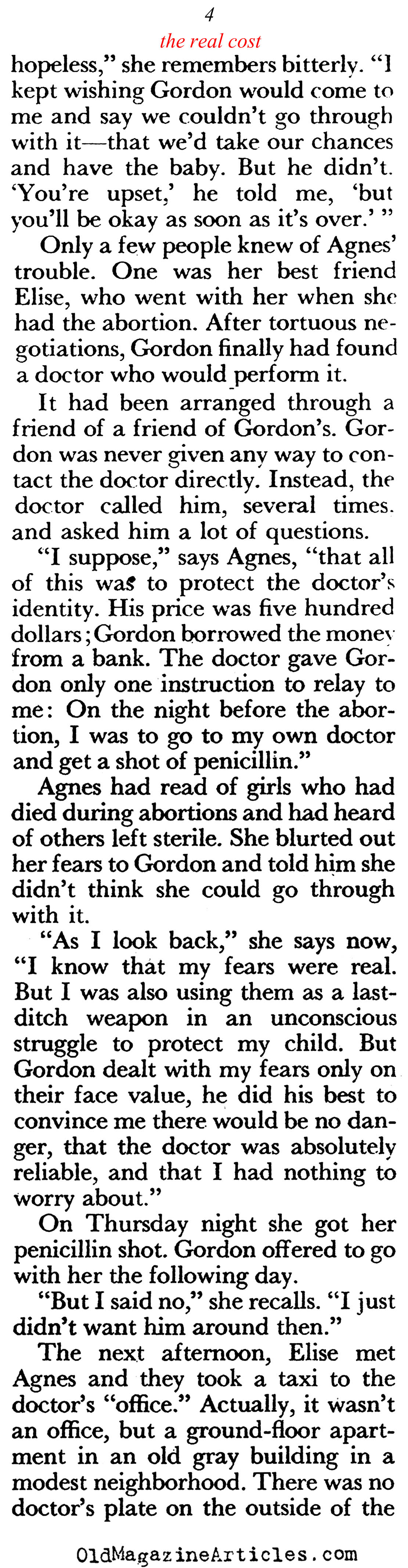 The Deep Regrets (Pageant Magazine, 1958)
