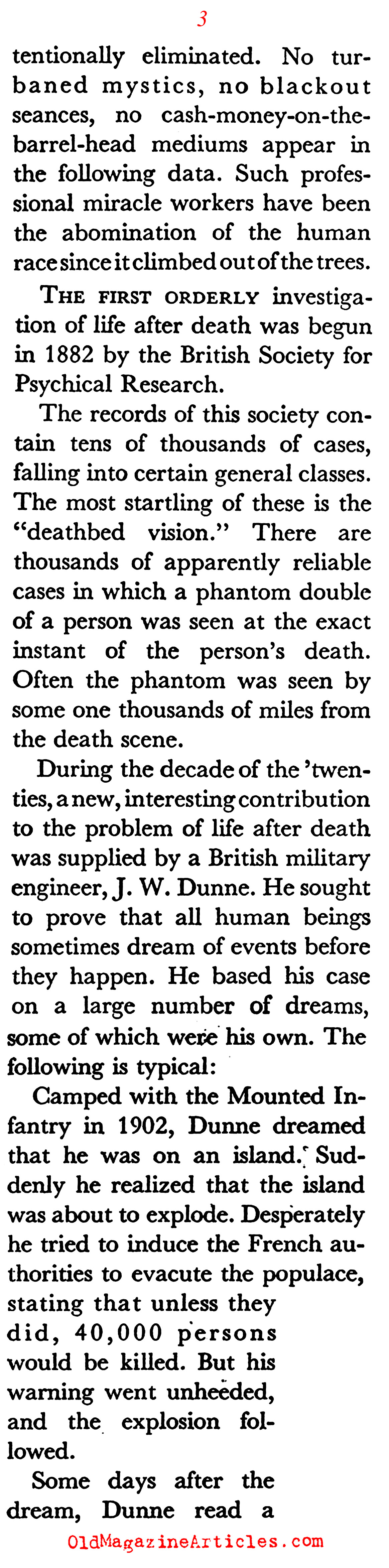 Comprehending the Afterlife (Coronet Magazine, 1941)