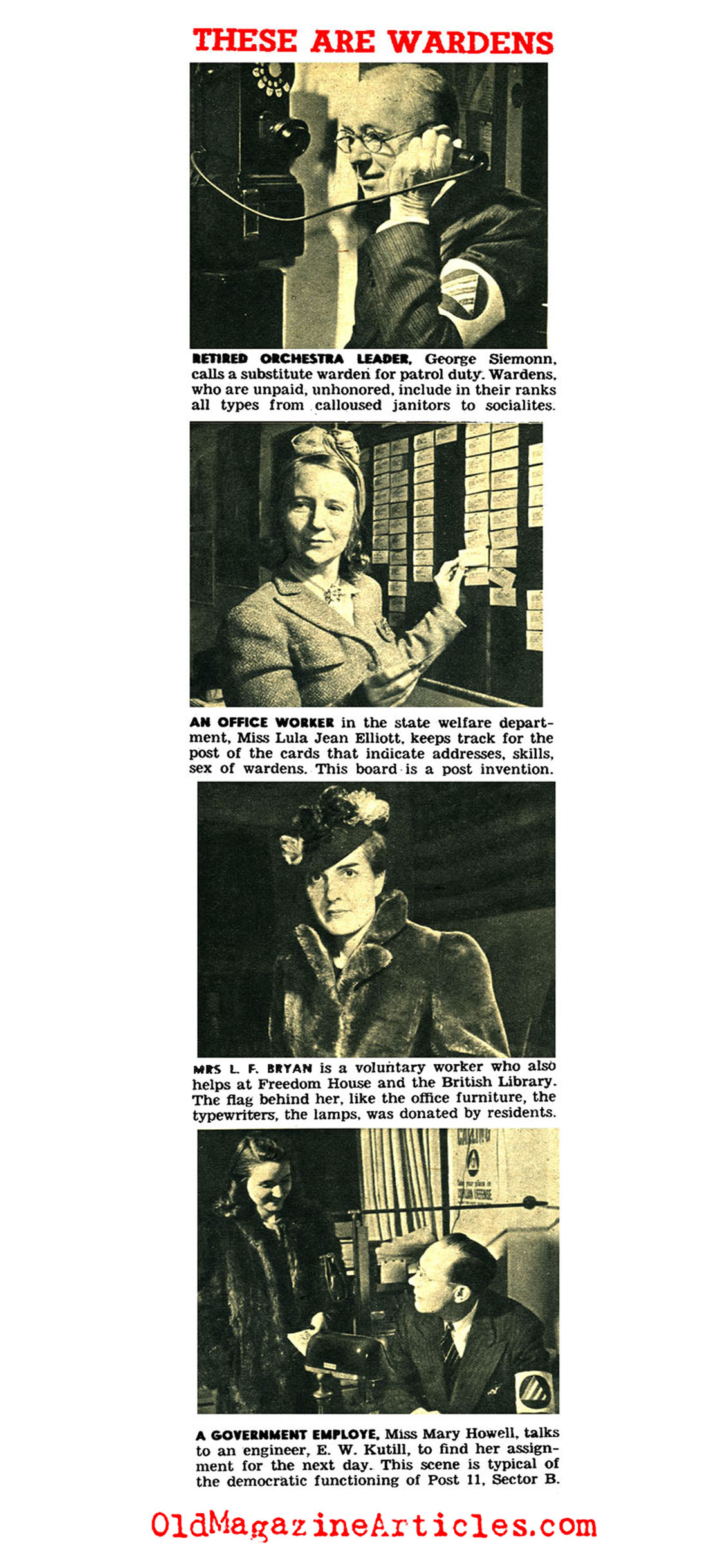 Air-Raid Wardens on the Home Front (ClicK Magazine, 1942)