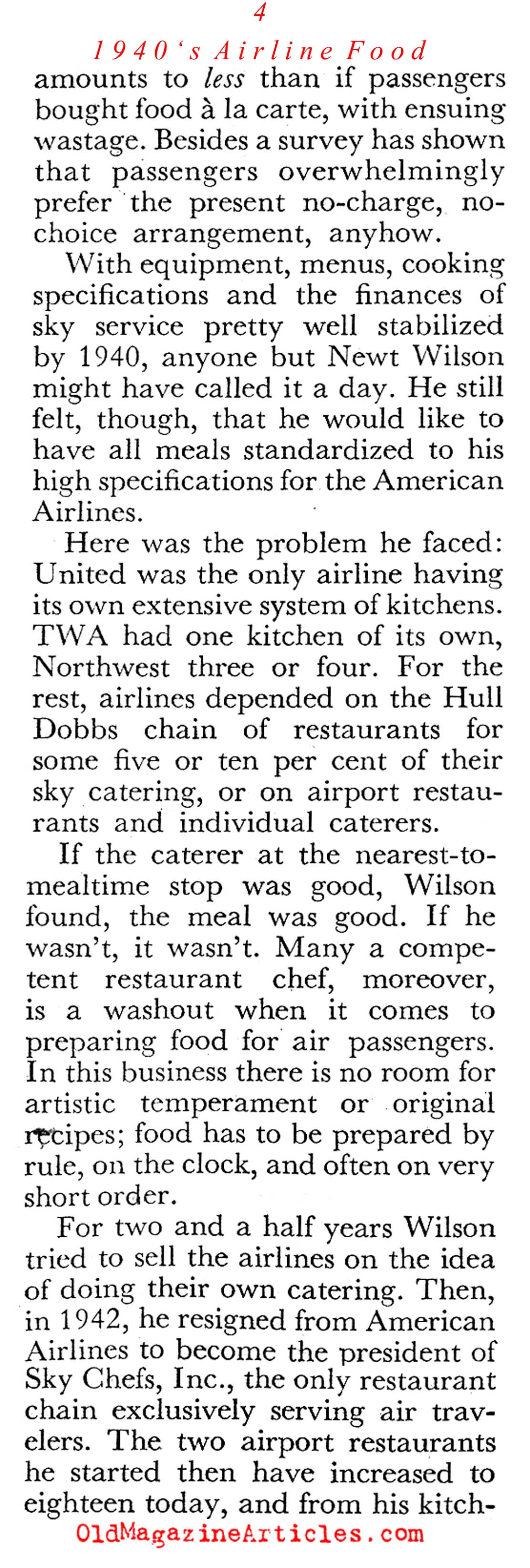 The Birth of Airline Food (Coronet Magazine, 1945)