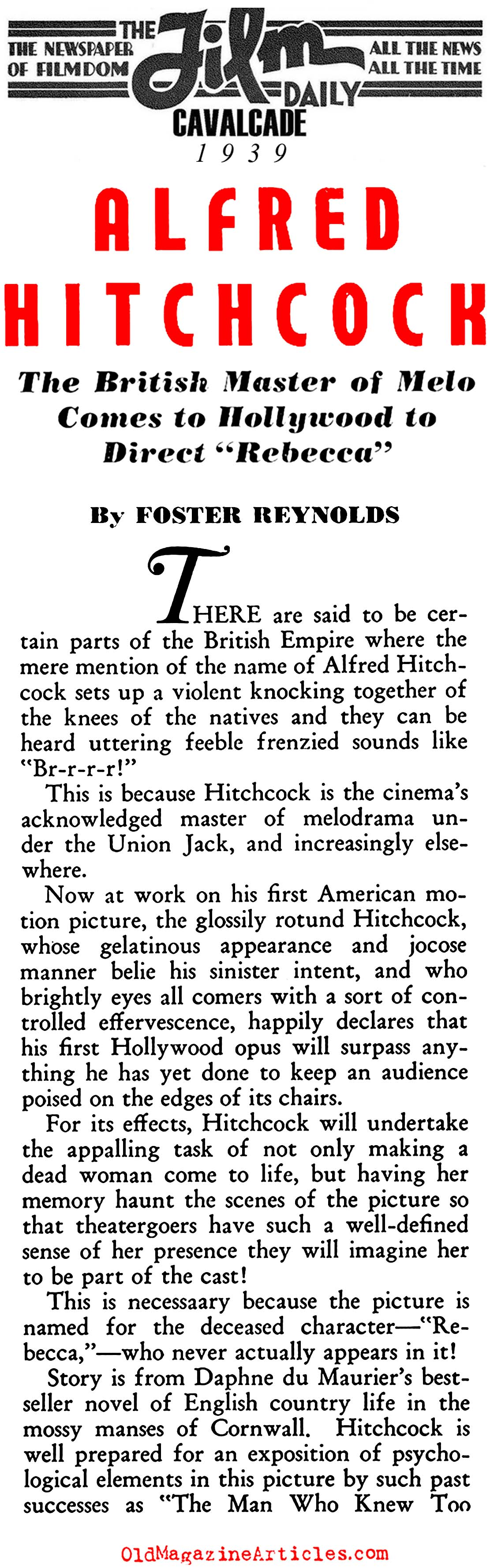 Director Alfred Hitchcock (Film Daily, 1939)