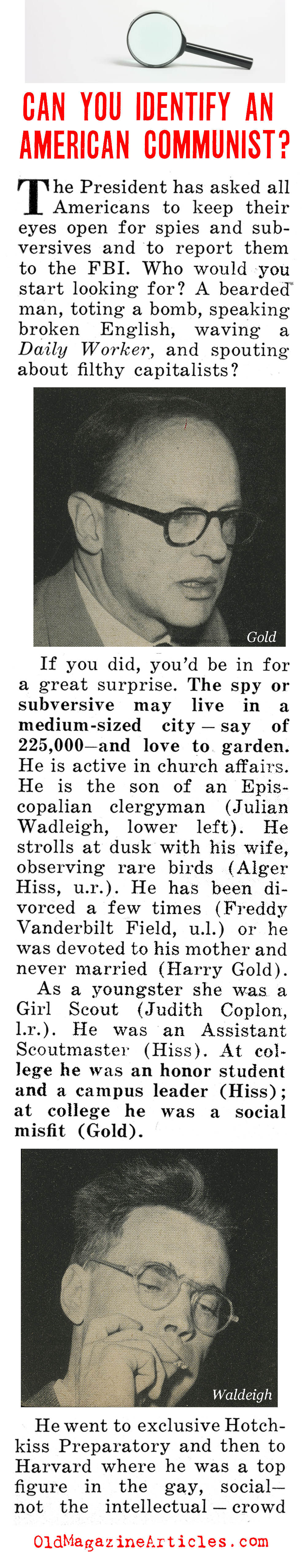 Can You Spot a Red? (People Today Magazine, 1950)