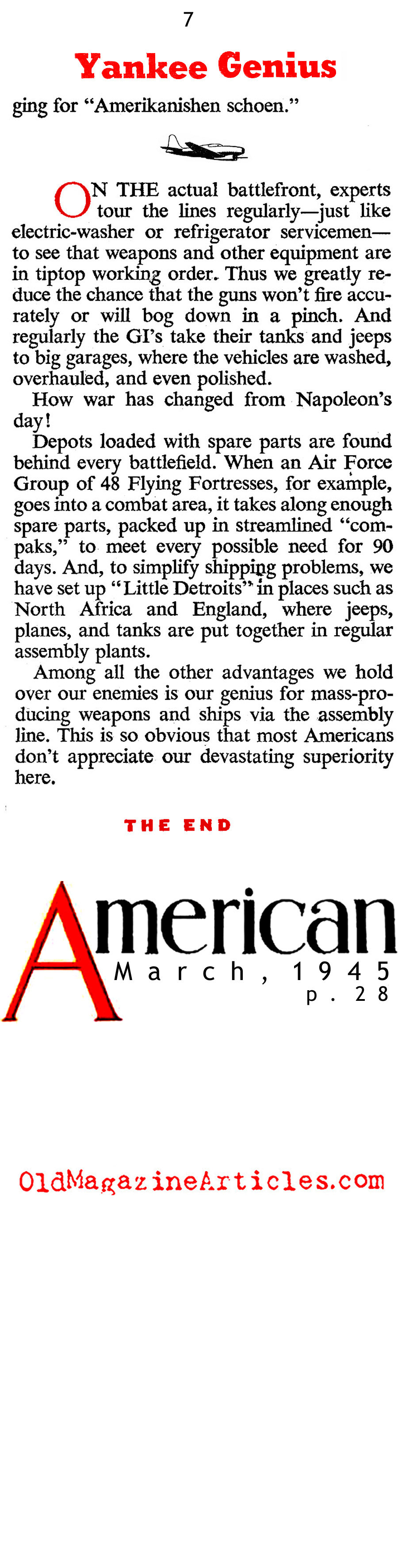 The American Way of War (American Magazine, 1945)