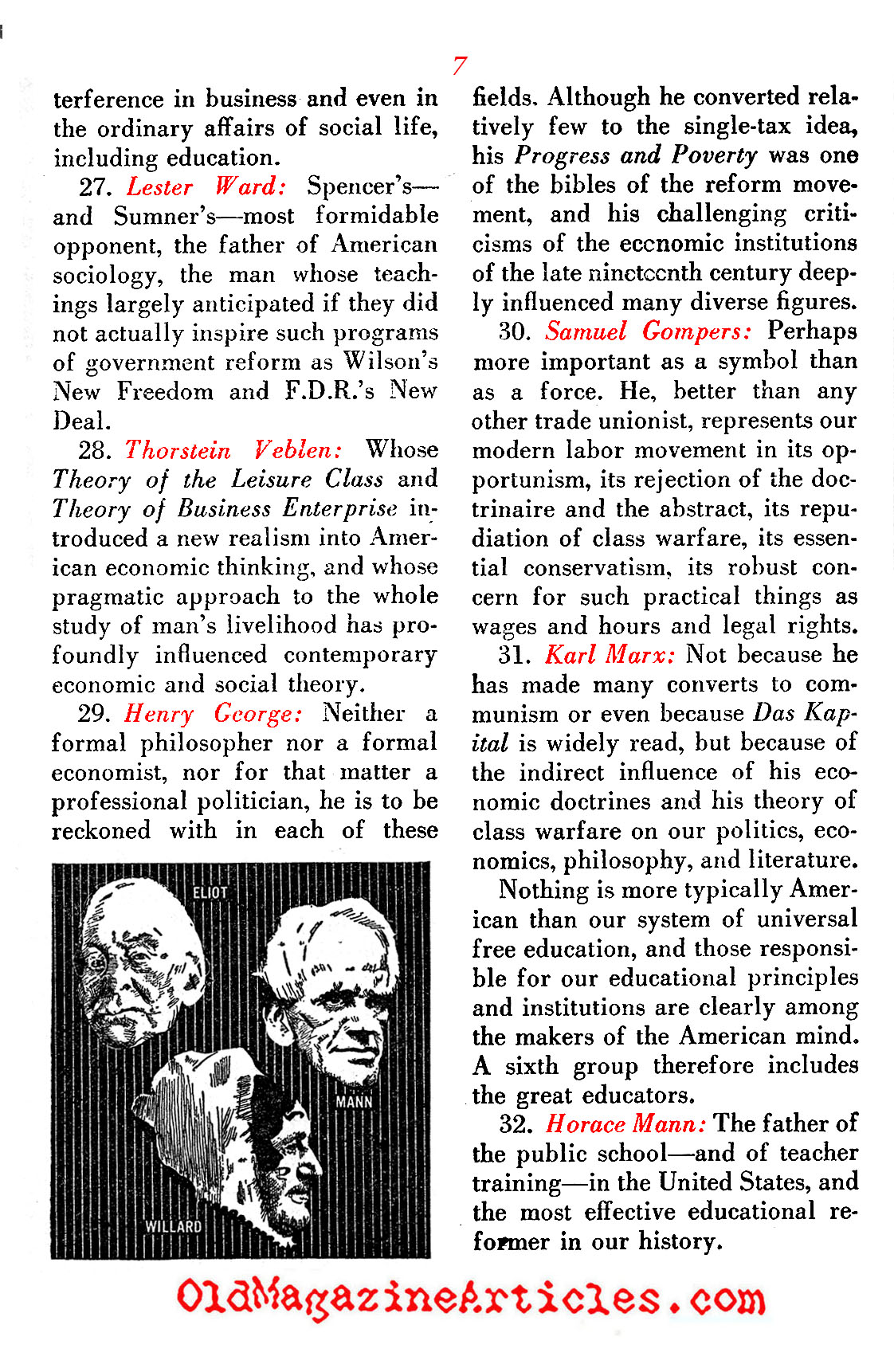 They Molded the American Mind ('48 Magazine, 1948)
