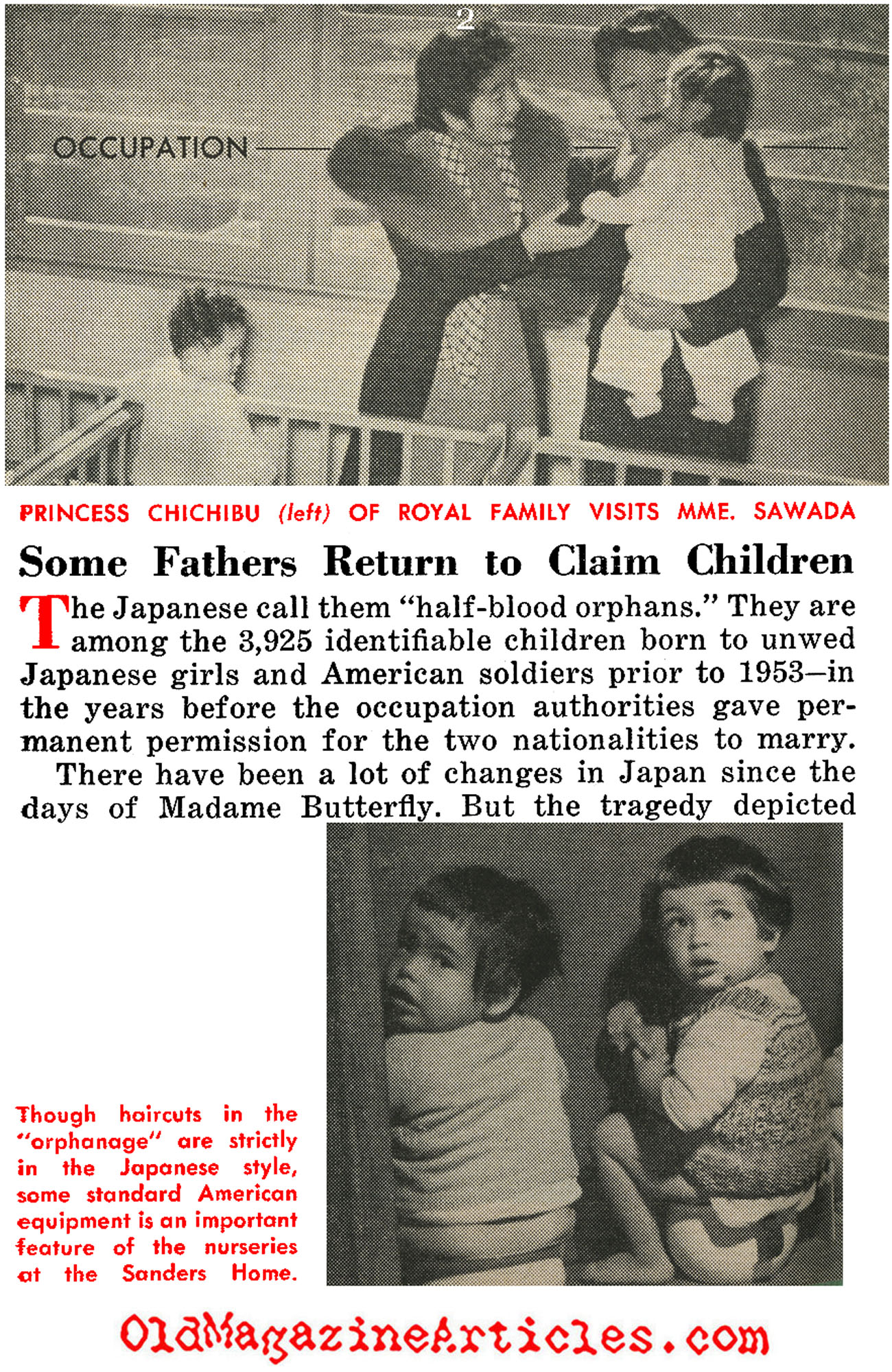 The War-Babies of Occupied Japan (People Today Magazine, 1954)