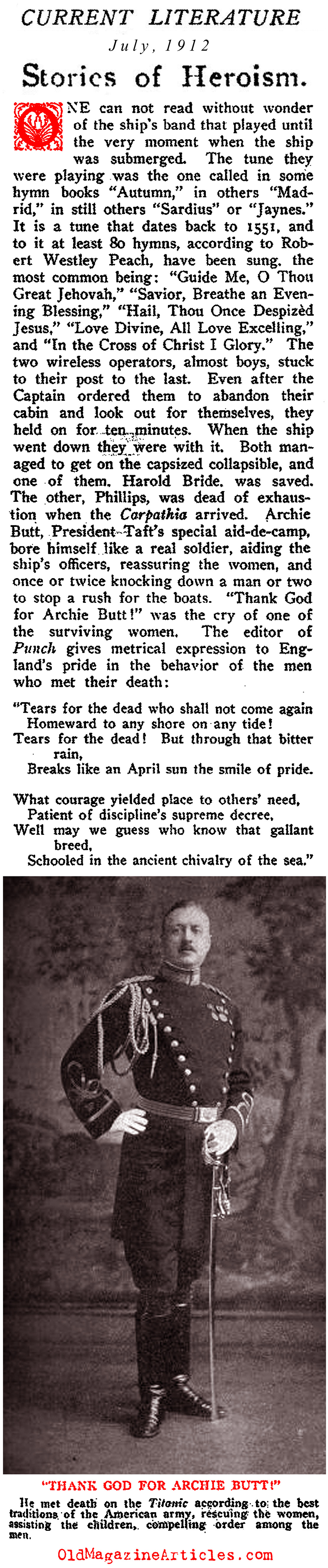 The Stories of Gallantry (Current Literature Magazine, 1912)