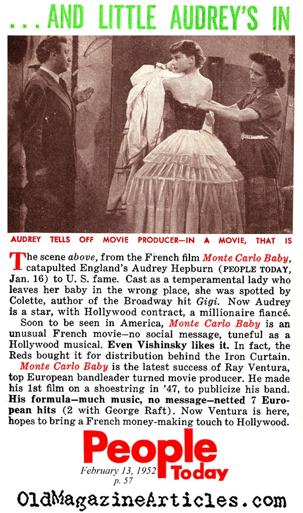 The Discovery of Audrey Hepburn (People Today, 1952)
