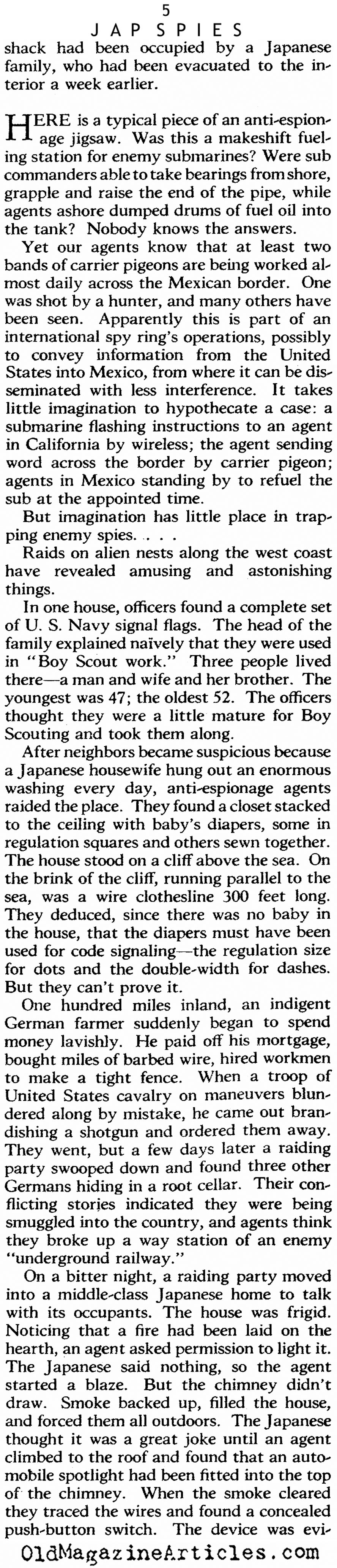 Finding Japanese Spies (The American Magazine, 1942)