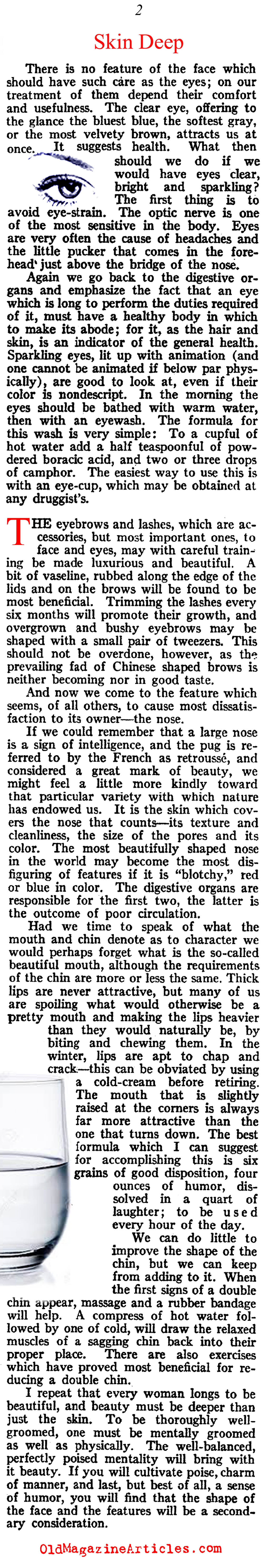 Timeless Advice Regarding Skin Care (McCall's Magazine, 1920)
