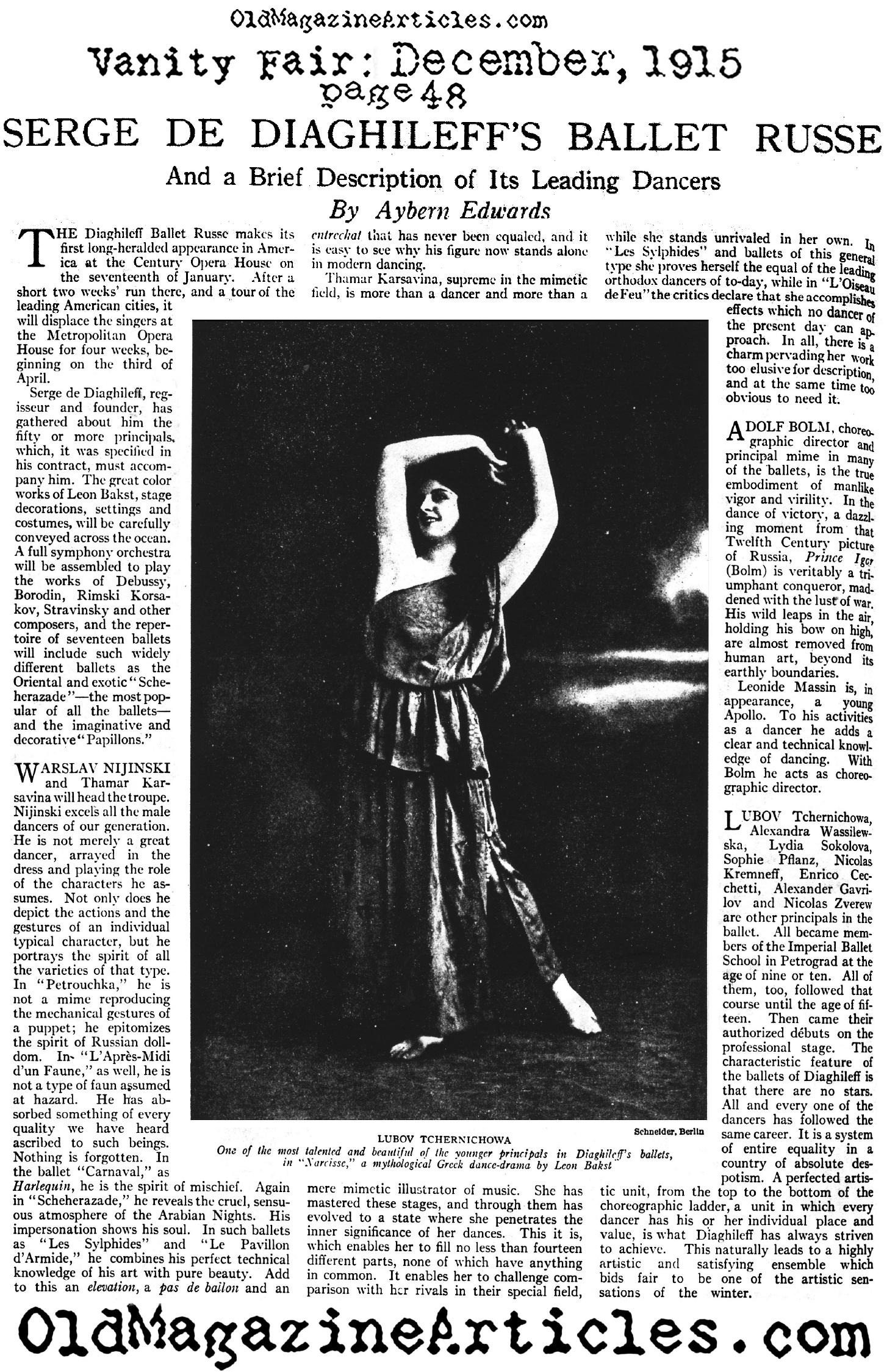 ballet show up paper articles