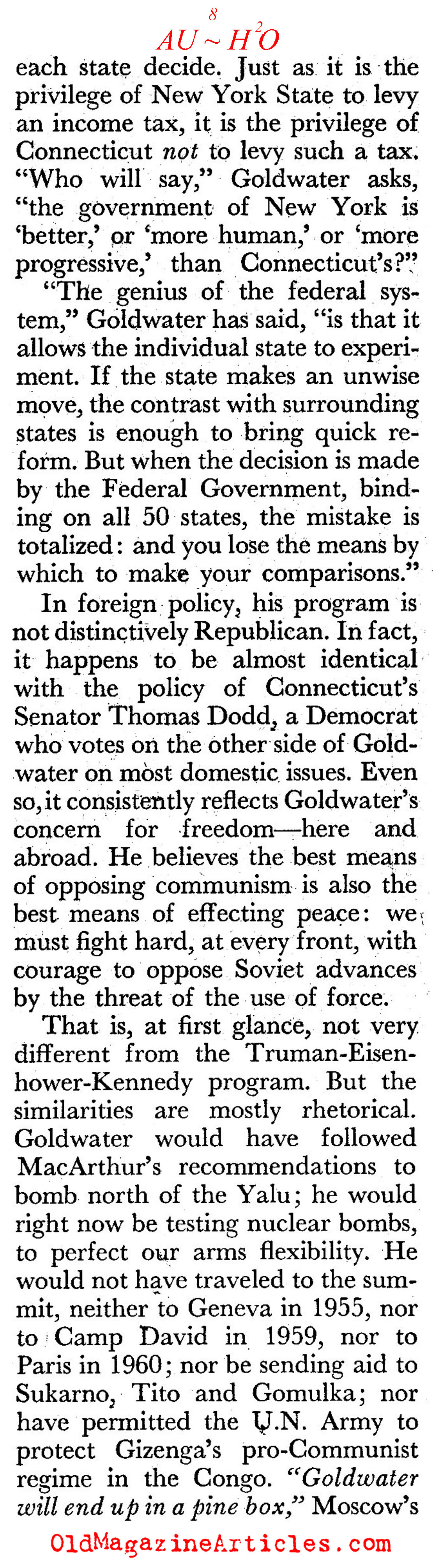 The Father of American Conservativism (Coronet Magazine, 1961)
