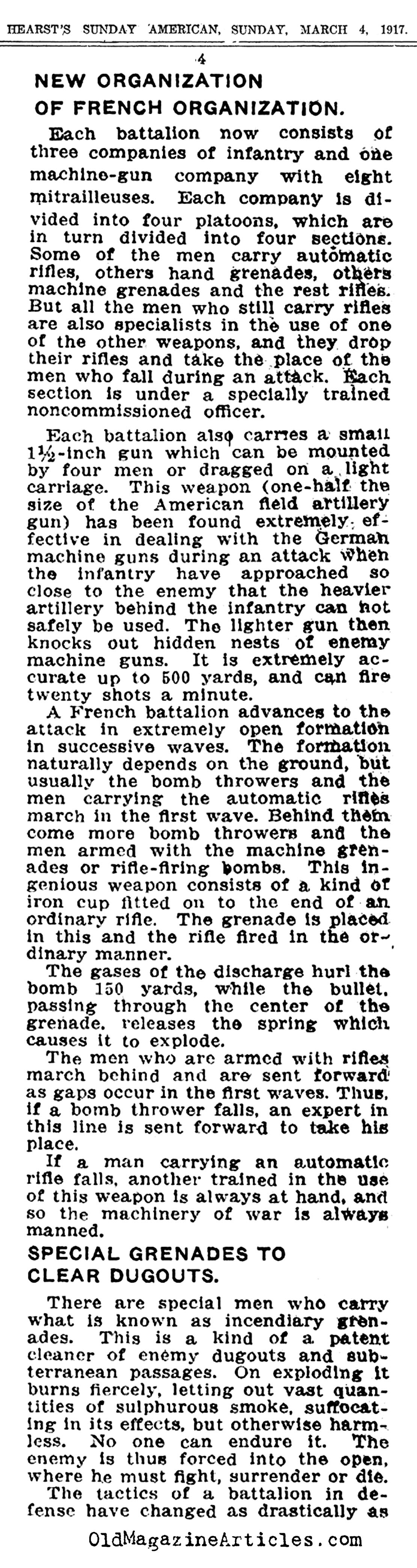 A War Like No Other  (Hearst's Sunday  American, 1917)