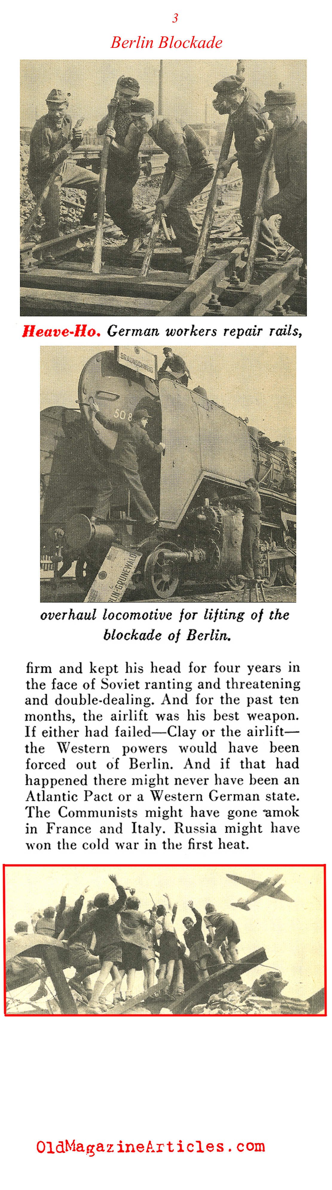 A Look Back at the Berlin Air-Lift (Pathfinder Magazine, 1949)