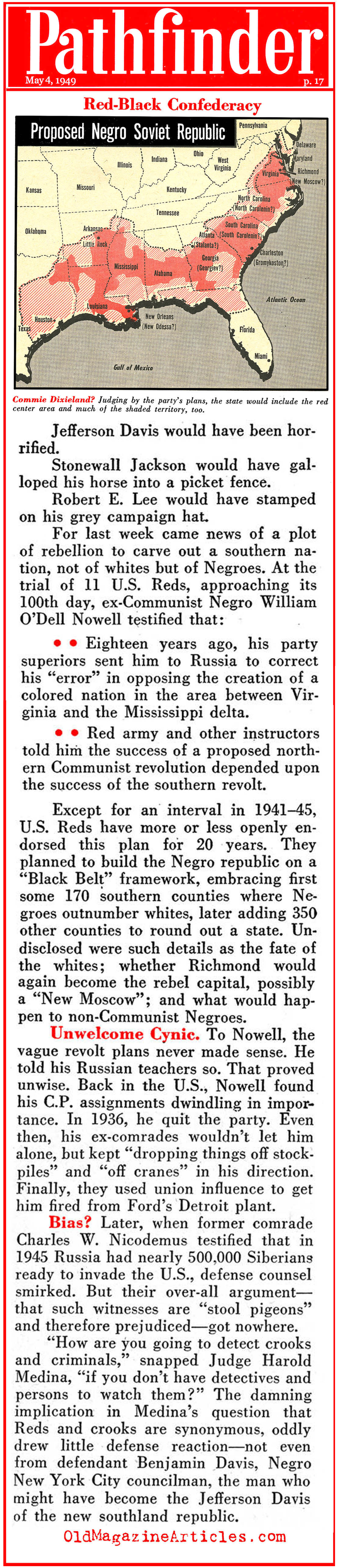 Soviet Plans to Dally In U.S. Identity Politics  (Pathfinder Magazine, 1949)
