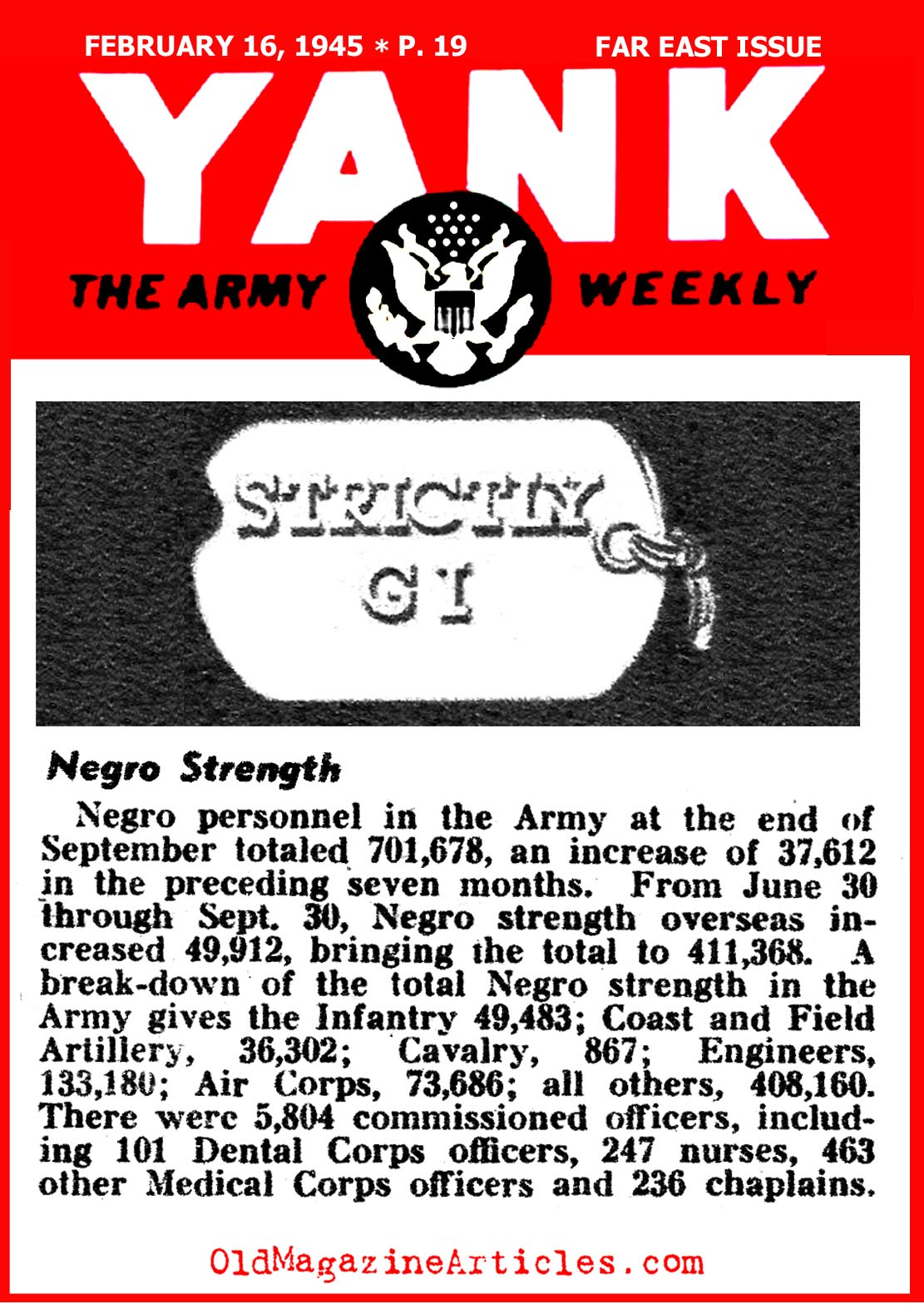 African-Americans in the U.S. Army (Yank Magazine, 1945)