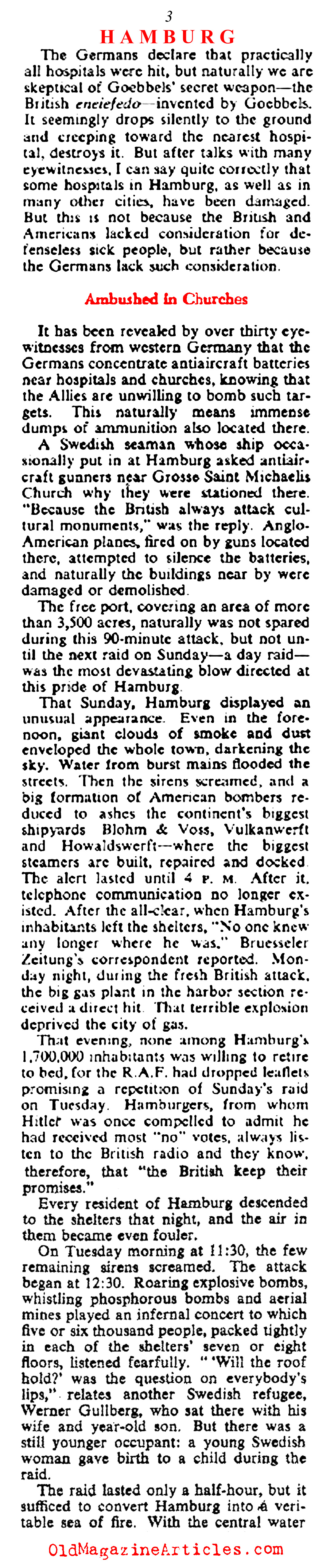 'They Saw Hamburg Die' (Collier's Magazine, 1943)
