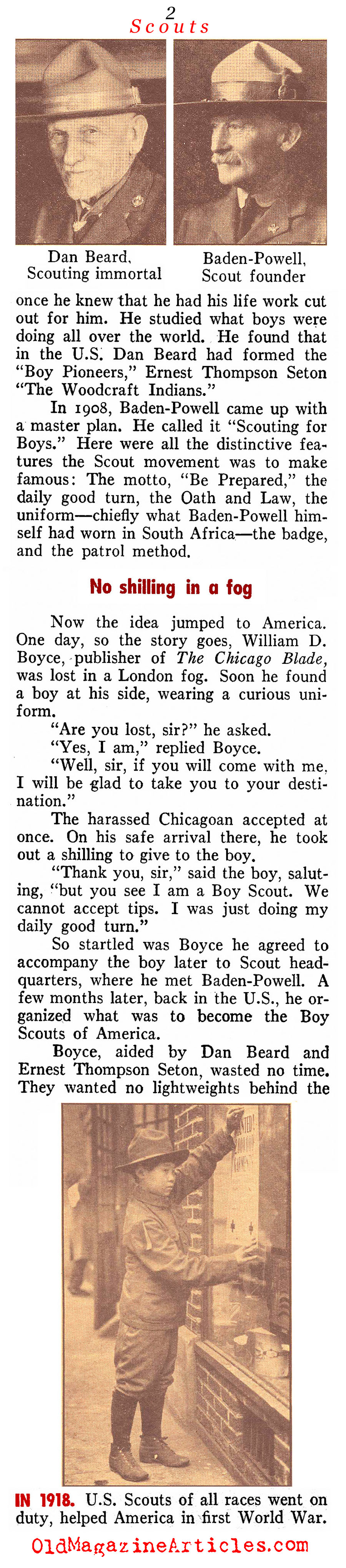 The Boy Scouts of America (Pathfinder Magazine, 1947)